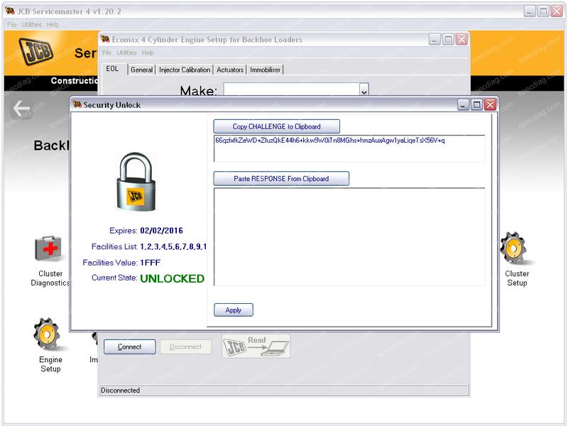 JCB ServiceMaster 2 & 4 Unlock Key Calculator | Speed Limit