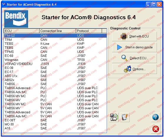 bendix_acom heavy duty abs tractor trailer diagnostic software kit nexiq usb bendix trailer abs wiring diagram at bakdesigns.co