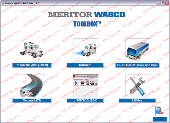 Heavy Duty ABS Tractor/Trailer Diagnostic Software Kit